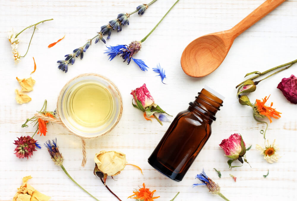 Flowers and herbs for private label essential oils